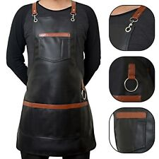 Professional Barber Salon Apron Gown PU Leather Cape Hair stylist Hairdressing