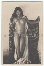 Nude Oriental Ethnic Lady naked erotic great real photo postcard c.1910
