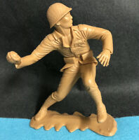 "vintage  6"" INCH 2x 2""  ARMY MAN LOUIS MARX TOYS 1960s WWII High Detail Model #"
