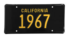 New! 1967 CALIFORNIA Vintage Look Black Yellow License Plate Free Shipping 67-C