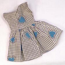Coty Girl Doll Taffeta Dress Black White Blue Hearts R & B Arranbee Vintage