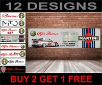 Martini Racing Alfa Romeo 155 Bttc Logo Banner per Officina, Garage, Man Grotta