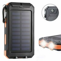 800000mAh Waterproof Dual USB Portable Solar Charger Solar Power Bank For Phones