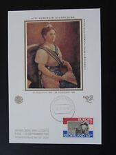royalty Queen Wilhelmina Europa Cept 1980 maximum card Netherlands 84464