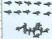 LEGO x 20 Star Wars Flat Silver Minifig, Weapon Gun, Blaster Short SW 58247