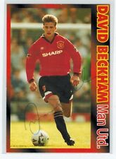 [AUTOGRAPHED early ON CARD] 1995 Manchester United DAVID BECKHAM ROOKIE CARD