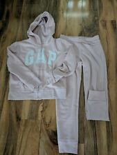 Gapkids girls pale pink tracksuit used age XL-12