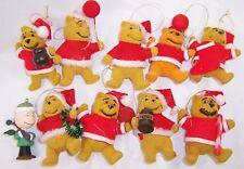 Vintage Winnie the Pooh, Santa Christmas Ornaments. Hong Kong, Charlie Brown