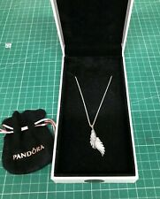 Pandora Sterling Silver Necklace & Majestic Phoenix Feather Pendant NEW JC353
