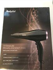 BaByliss 5168u Titanium Pearlescent 2100W Standard Hairdryer - Black