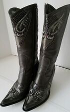 Helens Heart Grey Sequins Western Style Cowboy Boots Size 8
