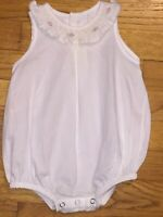 Baby Sen Smocked Bubble Romper Size Newborn RUNS BIG IMO