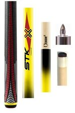 2017 NEW Poison VX4-STK-Y Playing Cue - Yellow w/ Sport Grip Handle + Joint Cap