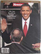 BARACK OBAMA COMMEMORATIVE INAGUARAL EDITION NEWSWEEK Magazine NEW MINT SEALED!