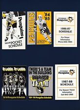 Pittsburgh Penquins hockey schedule lot of 8 different