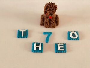 Unofficial Waffle the Wonder Dog birthday cake topper edible decoration Cbeebies