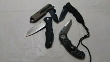 Lot of 4 Folding Pocket Knives Knifes Voltron Uzi & other Vfine Free Ship