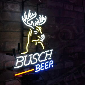 """Busch Beer"" Real Glass Store Neon Sign Artwork Handmade Decor Gift"