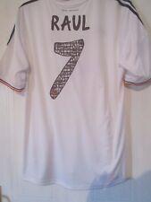 Real Madrid 2013-2014 Raúl 7 despedida Hogar Camiseta De Fútbol Talla XL Bnwt/42002