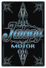 Jalopy Motor Oil Garage Art Metal Sign By Steve McDonald 12x18 RVG624