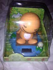Solar Power Car Decoration Orange Bear Bobble head Nodding head toy