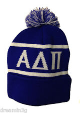 Alpha Delta Pi Knit Beanie Pom Winter Hat ADPi