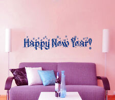 Christmas Wall Decal Holiday Vinyl Stickers Happy New Year Bedroom Decor KI41