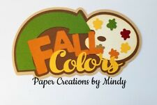CRAFTECAFE MINDY FALL COLORS AUTUMN premade paper piecing scrapbook title diecut