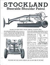 Equipment Brochure Stockland S-230-A Steerable Shoulder Patrol c1950's (E3589)