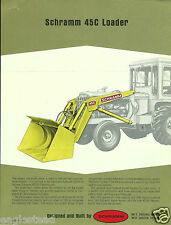 Equipment Brochure - Schramm - 45C - Loader - c1970 (E2767)