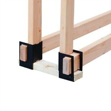 4-Pc. Firewood Rack Log Brackets 2 x 4 Lumber 1/2 Cord Storage System Fire Wood