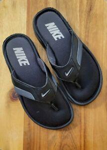 Nike Comfort Thong Sandal Flip Flop Black Memory Foam Men's 7