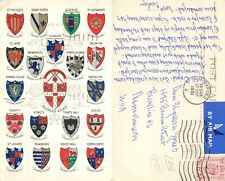 s11800 College Coats of Arms, Cambridge, England postcard 1951 stamp #1