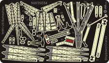Alliance Model Works 1:350 Cranes for WWII USN Battleships Detail Set #NW35034