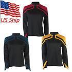 2020 JL Picard Uniform Cosplay Startfleet Female Red Gold Blue Women Top Shirts