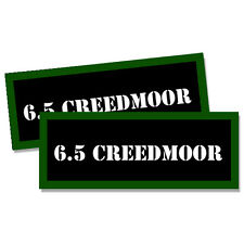 """6.5 Creedmoor Ammo Can 2x Labels Ammunition Case 3""""x1.15"""" stickers decals 2 pack"""