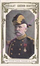 Chromo CHOCOLAT GUéRIN BOUTRON Général Dubois Gouverneur de Paris n 416 /500