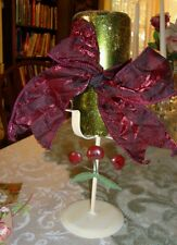 CUTE CANDLE HOLDER CHERRY DECOR