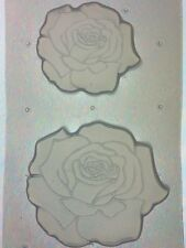 Flexible Resin Mold Rose Flower Set Of 2 Mould Craft Supplies