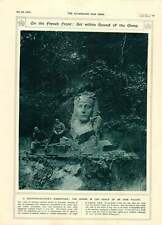 1916 FRONTE FRANCESE ART scultore Soldier's Intagliato GESSO SFINGE OUSE Valley