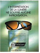 PUBLICITE ADVERTISING  1990   ALAIN PROST  collection lunettes