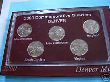 2000 COMMEMORATIVE DENVER QUARTERS -SHARP SET