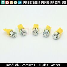 5x Amber Roof Cab Marker Running Lights LED Bulbs for Ford Super Duty Truck