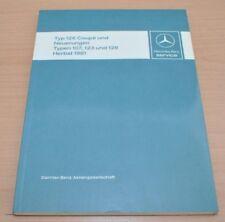 Mercedes Benz R107 W123 W126 Coupe  Einführungsschrift Werkstatthandbuch