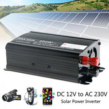 1000W Peak Solar Power Inverter 12V DC To 230V AC Modified Sine Wave Converter