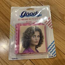 Goody 12 Medium Perm Rod Curlers Waves Rollers Pink Vintage 90's Sealed Pack