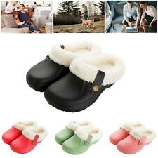 Women's Slippers Shoes Clogs Lined Warm Winter Rubber House Outdoor Non Slip US