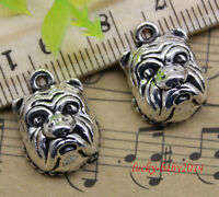 10//30//50pcs retro style Lovely little girl alloy charms pendant 19x14mm