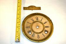 "Ansonia Kitchen Clock Dial and Beat Regulating Plate, 6.5"" Diameter"