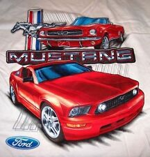 RARE NEW CLASSIC RED FORD MUSTANG CONVERTIBLE TRIBAR PONY L XL XXL SHIRT